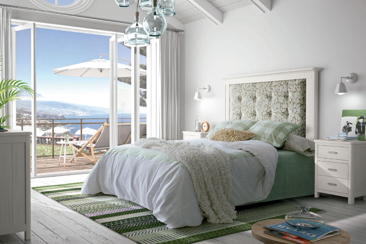 Muestra de un dormitorio de matrimonio en Colunga - Asturias