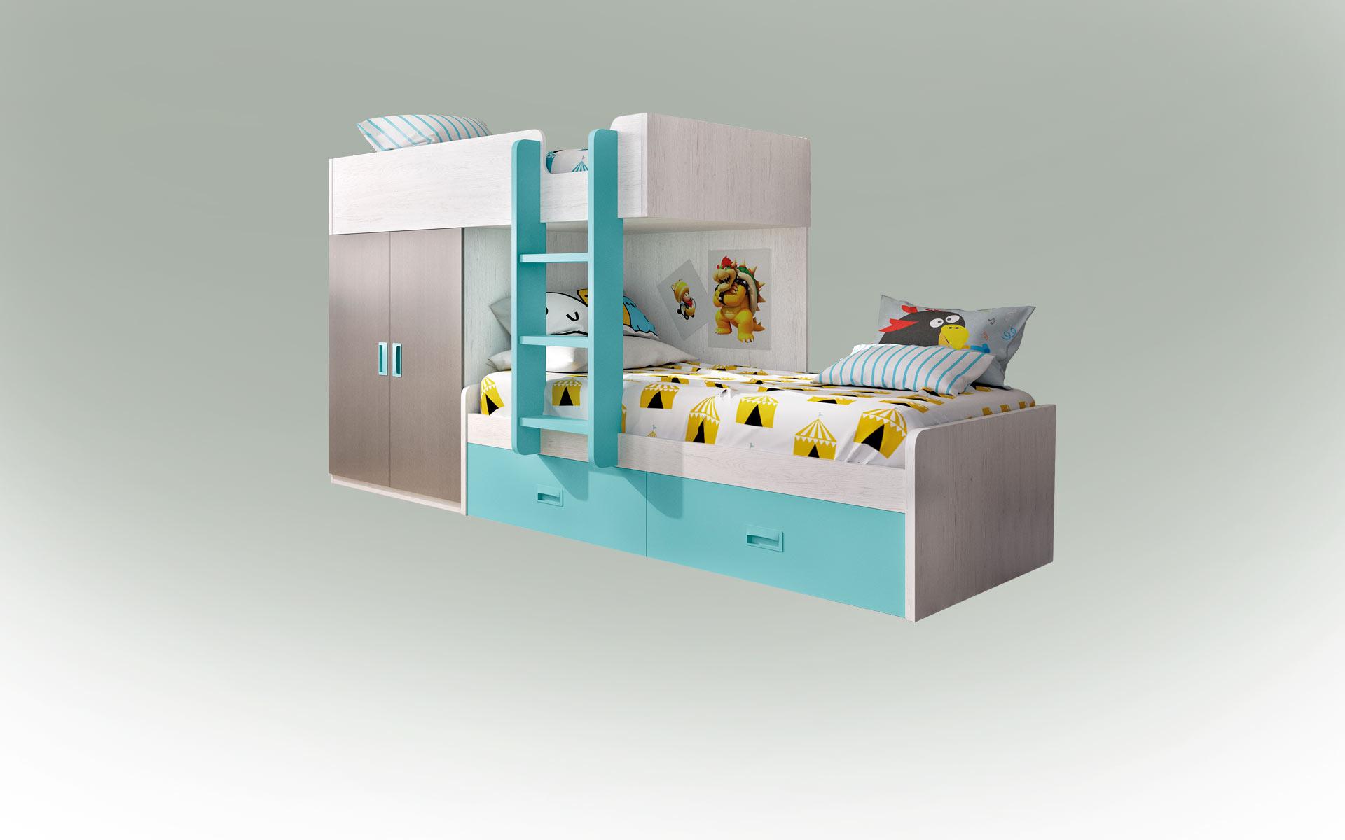 Muestra de un dormitorio juvenil en Colunga - Asturias